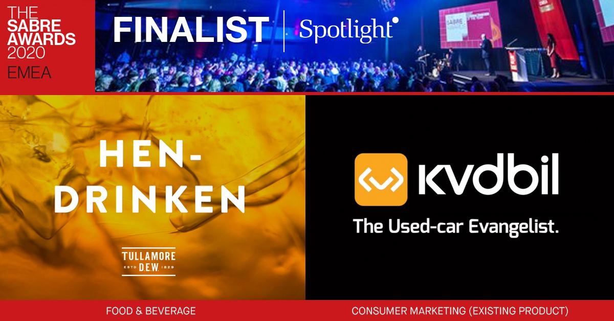 Spotlight nominerade i 2020 SABRE Awards EMEA